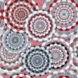 Nahtloses Muster Dekorative Elemente der Weinlese Hand gezeichneter Hintergrund Lizenzfreie Stockbilder