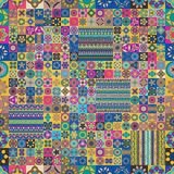 Nahtloses Muster Dekorative Elemente der Weinlese Hand gezeichneter Hintergrund Islam, Arabisch, Inder, Osmanemotive lizenzfreie stockfotos
