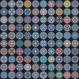 Nahtloses Muster Dekorative Elemente der Weinlese Hand gezeichneter Hintergrund Islam, Arabisch, Inder, Osmanemotive Vervollkommn lizenzfreie abbildung