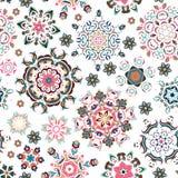Nahtloses Muster Dekorative Elemente der Weinlese Hand gezeichneter Hintergrund Islam, Arabisch, Inder, Osmanemotive Vervollkommn stock abbildung