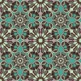 Nahtloses Muster Dekorative Elemente der Weinlese Schöner Hintergrund Lizenzfreies Stockbild