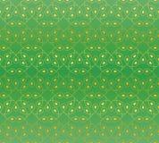 Nahtloses Muster in den Grün- und Goldfarben Lizenzfreie Stockfotografie