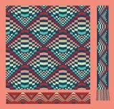 Nahtloses Muster in den Hippie-Farben Stockfoto