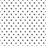 Nahtloses Muster in den Tupfenartschwarzkreisen Lizenzfreies Stockfoto