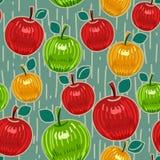 Nahtloses Muster der Äpfel Stockfotos