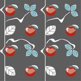 Nahtloses Muster der Äpfel lizenzfreie abbildung