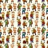 Nahtloses Muster der Abenteurerleute Lizenzfreies Stockfoto