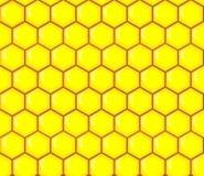 Nahtloses Muster der abstrakten Bienenwabe Lizenzfreie Stockfotografie