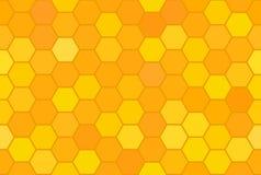 Nahtloses Muster der abstrakten Bienenwabe Stockbild