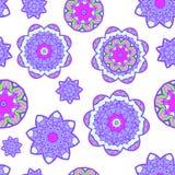 Nahtloses Muster der abstrakten Blume. Vektor Stockbild