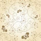 Nahtloses Muster der abstrakten Blumenbasisrecheneinheit Lizenzfreies Stockbild