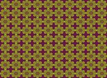 Nahtloses Muster der abstrakten Blumenform Lizenzfreie Stockbilder