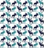 Nahtloses Muster der abstrakten dreieckigen Elche Lizenzfreies Stockfoto