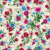 Nahtloses Muster der abstrakten Eleganz mit Blumenhintergrund Lizenzfreie Stockbilder