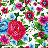 Nahtloses Muster der abstrakten Eleganz mit Blumenhintergrund Stockfotografie
