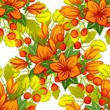 Nahtloses Muster der abstrakten Eleganz mit Florenelementen Stockfoto
