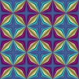 Nahtloses Muster der abstrakten geometrischen Illusion. Lizenzfreie Stockfotos