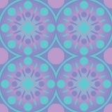 Nahtloses Muster der abstrakten geometrischen Kreise Blaues Design des Vektortapeten-Rosas Lizenzfreie Stockfotos