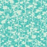 Nahtloses Muster der abstrakten grünen orientalischen Bäume Stockbild