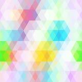 Nahtloses Muster der abstrakten Hippies mit hellem Pastell färbte Raute Geometrischer Hintergrund Vektor Stockfotos
