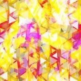 Nahtloses Muster der abstrakten Hippies mit heller farbiger Raute Geometrischer Hintergrund für Standort, Blog, gelbes purpurrote stock abbildung