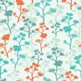 Nahtloses Muster der abstrakten orientalischen Bäume lizenzfreie abbildung