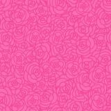 Nahtloses Muster der abstrakten rosa Rosen des Vektors Lizenzfreie Abbildung