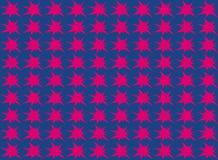 Nahtloses Muster der abstrakten Sternform Vektor Abbildung