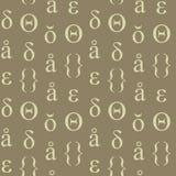 Nahtloses Muster der abstrakten typografischen Symbole Lizenzfreies Stockfoto