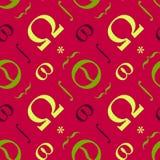 Nahtloses Muster der abstrakten typografischen Symbole Stockfotos