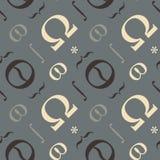 Nahtloses Muster der abstrakten typografischen Symbole Lizenzfreie Stockfotos