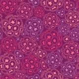 Nahtloses Muster der abstrakten Unterwasserblumen Stockfotografie