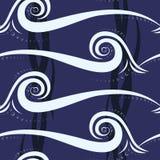 Nahtloses Muster der abstrakten Welle Lizenzfreies Stockfoto