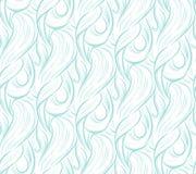 Nahtloses Muster der abstrakten Wellen Stockbild