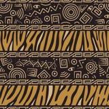 Nahtloses Muster der afrikanischen Art Stockfotos