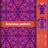 Nahtloses Muster der afrikanischen Art mit Anwendungsbeispielen wiederholen Lizenzfreie Stockbilder