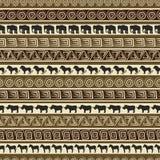 Nahtloses Muster der afrikanischen Art mit wilden Tieren. Stockfotografie