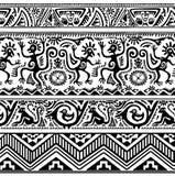 Nahtloses Muster der afrikanischen ursprünglichen Kunst Stockbilder