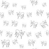 Nahtloses Muster der Ameisen Stockfotografie