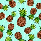 Nahtloses Muster der Ananas Stockfotografie