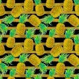 Nahtloses Muster der Ananas Stockbild