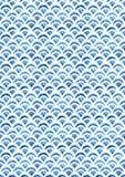 Nahtloses Muster der Aquarellfischschuppe Lizenzfreie Stockbilder