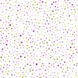 Nahtloses Muster der Aquarellkonfettis Vektor Abbildung