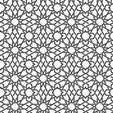Nahtloses Muster der arabischen Verzierung Stockbilder
