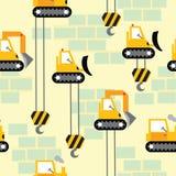 Nahtloses Muster der Arbeitsbereichs-Baumaschinen Stockbilder