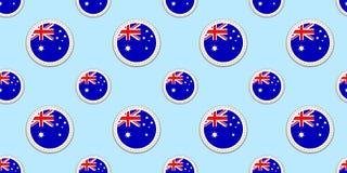 Nahtloses Muster der Australien-Rundenflagge Australischer Hintergrund Vektorkreisikonen Geometrische Symbole Beschaffenheit für  vektor abbildung