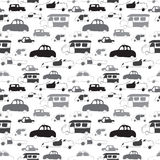 Nahtloses Muster der Autos Stockfotografie