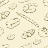 Nahtloses Muster der Bäckerei Stockbilder
