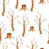 Nahtloses Muster der Bäume Stockfotografie