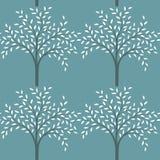 Nahtloses Muster der Bäume Lizenzfreies Stockfoto